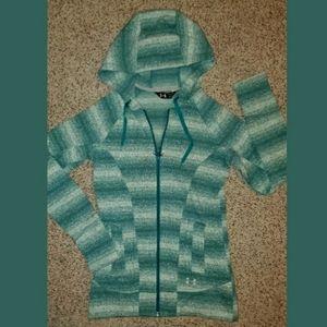 UNDER ARMOUR Hoodie Fleece Long Coat/Jacket